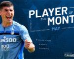 Малиновский признан игроком месяца в «Аталанте» третий раз подряд
